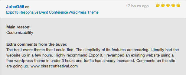 Event WordPress theme review